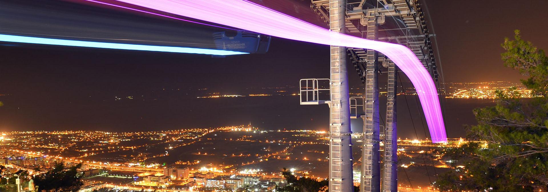Balçova Belediyesi Teleferik Gece